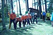 Ze života Chocnějovic, hasičské závody na Ouči.