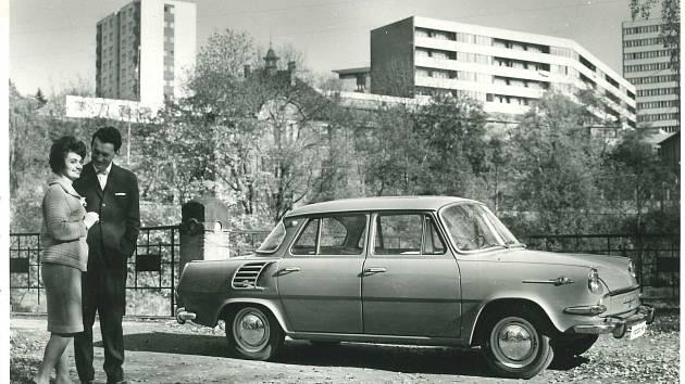 Škoda 1000 MB, první automobil s motorem vzadu, vyráběný v letech 1964-1969