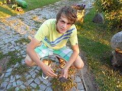 Matěj Rejfek, kterého jen těsně minul padající meteorit.