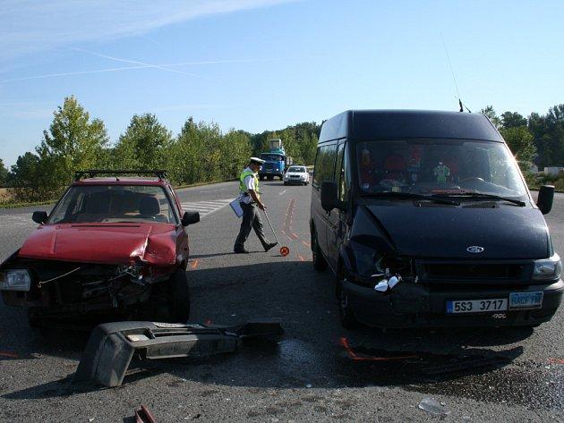 Nehoda v Mělníce.