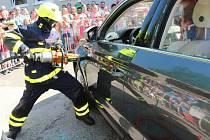 Na dětském dni se představili hasiči i kynologové