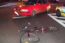 Řidička srazila neosvětleného cyklistu
