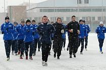 První trénink boleslavských fotbalistů