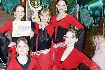 Tanečnice slavily úspěch.