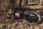 Tragická dopravní nehoda motorkáře u Ledců.