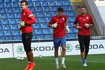 Předzápasový trénink FK Mladá Boleslav