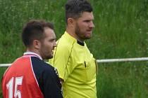 Okresní fotbalový rozhodčí Petr Janda.