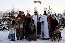 Tříkrálová obchůzka Malé Bělé členy souboru Furiant.