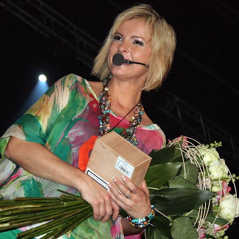 Iveta Bartošová po úspěšném boleslavském koncertu.