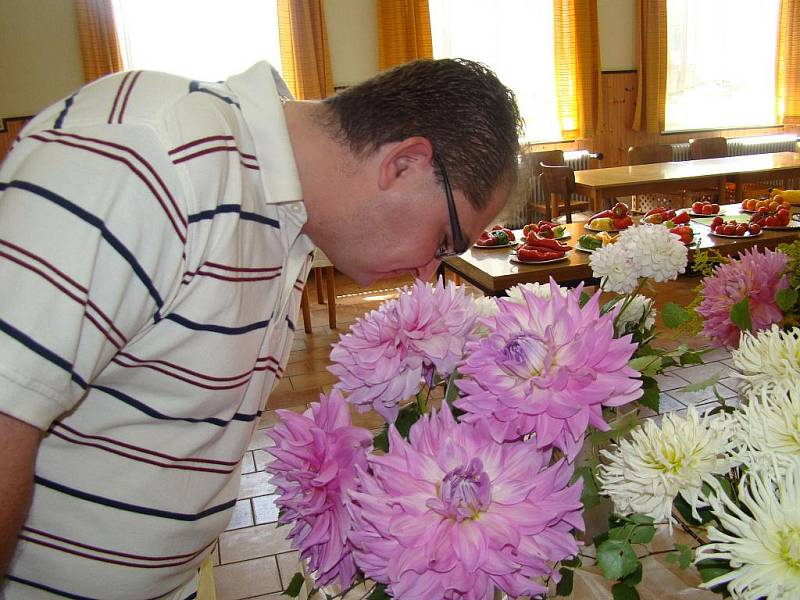 9. výstava jiřin, růží, mečíků a zeleniny v Přepeřích.