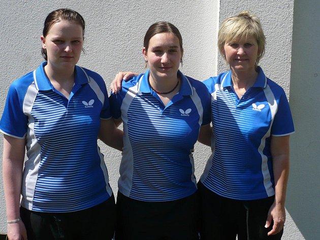 Stolní tenistky Bělé vybojovaly účast ve II. lize.
