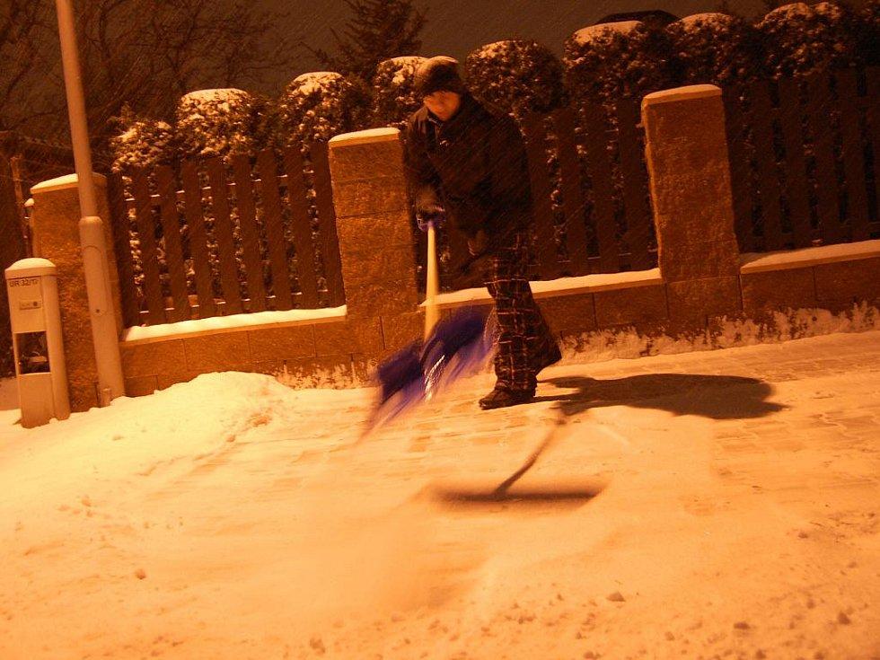 Sněhová kalamita - Mladá Boleslav
