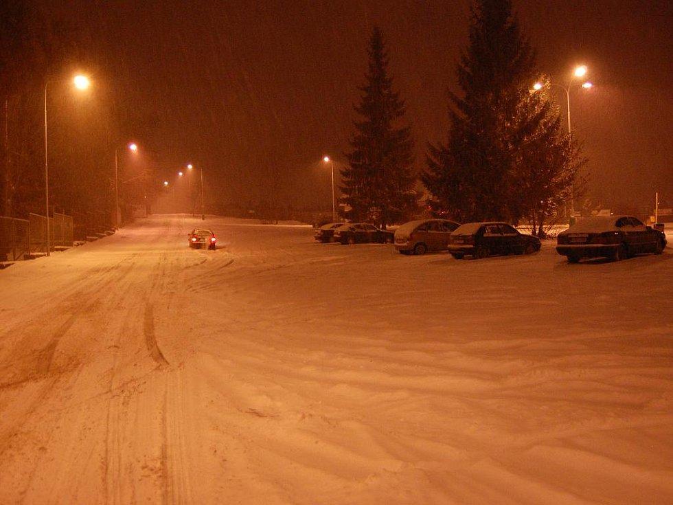 Sněhová kalamita - Kosmonosy.