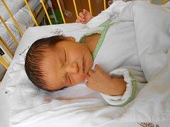 Oliver se narodil 20. ledna. Vážil 3,35 kg a měřil 48 cm.
