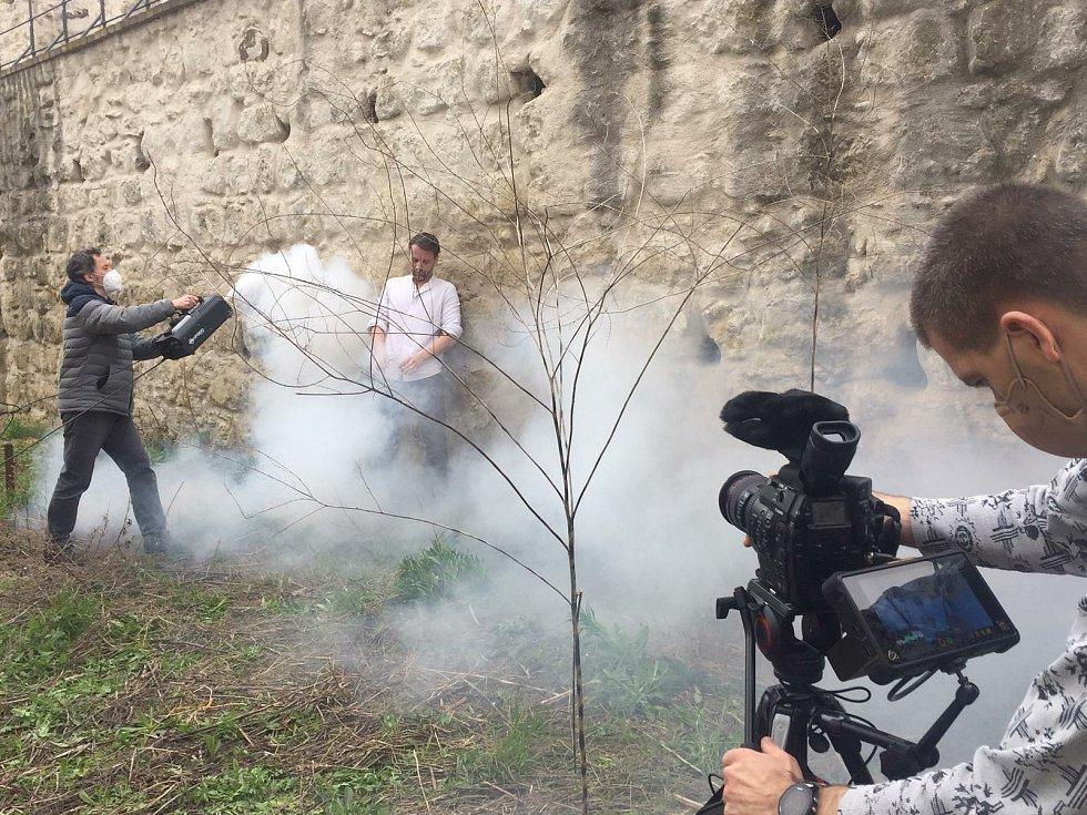 1. den soubor natáčel na parkánu mladoboleslavského hradu