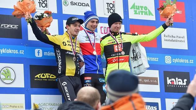 Mistrovství České republiky v cyklokrosu na Holých Vrších.