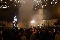 Novoroční ohňostroj v Bělé