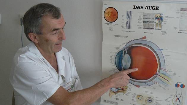 Primář očního oddělení Klaudiánovy nemocnice