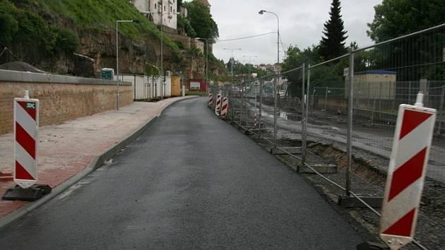 Ptácká ulice během rekonstrukce