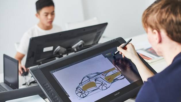 Žáci připravují studii Kodiaq ve verzi pickup.