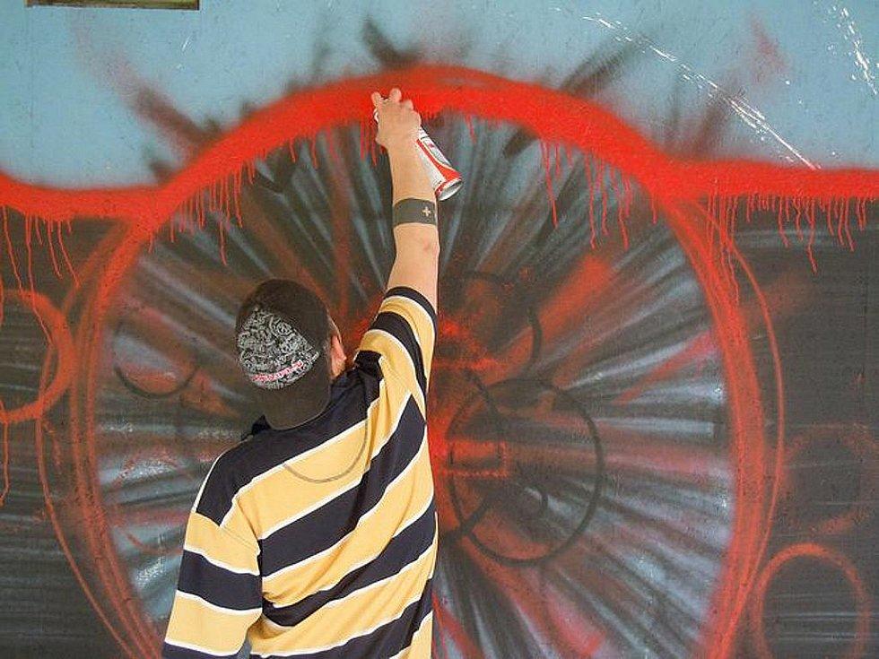 Graffiti Jam 2011 u Domu kultury v Mladé Boleslavi.