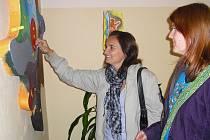 Pocitovník - jeden z možností jak vyjádřit své vnitřní rozpoložení, obdivovali na Dnu otevřených dveří také pracovnice nymburského Fokusu.