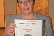 Anna Legnerová získala Zlatý kříž 2. třídy za 120 odběrů