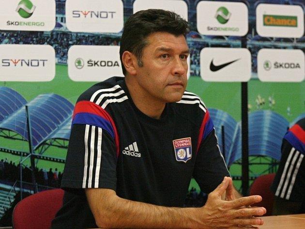 Předzápasový trénink Olympique Lyon
