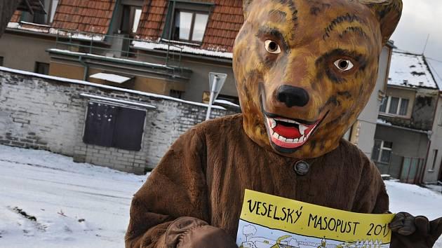 Medvěd na masopustu nemůže chybět.