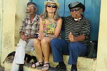 Cestovatelka Slávka Chrpová na Kubě.