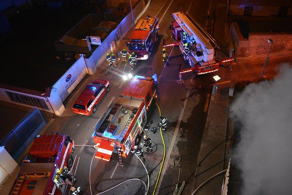 Požár domu v Mladé Boleslavi.