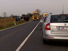 Nehoda kamionu. Ilustrační foto