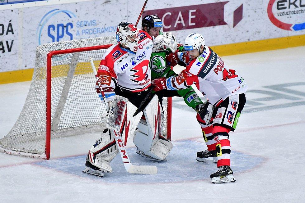 Hokejisté Mladé Boleslavi porazili ve druhém čtvrtfinále Pardubice 5:0.