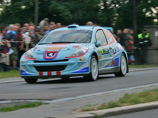 Rally Bohemia v centru Mladé Boleslavi (RZ 4 - Staroměstská)