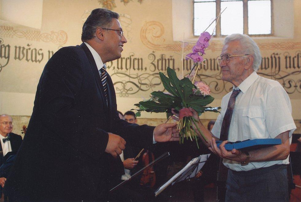 Josef Novák čestným občanem Mladé Boleslavi, rok 2007