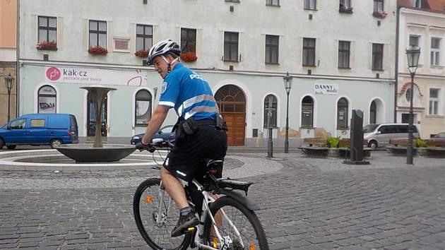 Strážník cyklista odhalil při noční kontrole města zloděje