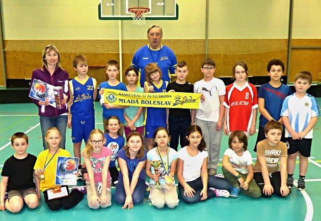 Basketbal, vítěz turnaje základních škol, 4. ZŠ Mladá Boleslav.