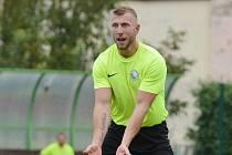 Střelec Jakub Pánek z béčka mladoboleslavského Sportingu.