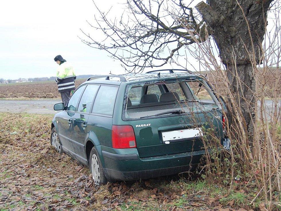 Vážná nehoda u Sovínek.