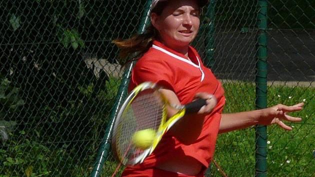 Boleslavská tenistka Lenka Brůchová prokázala na turnaji v Mladé Boleslavi výbornou formu.