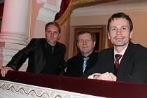 Vedení Městského divadla Mladá Boleslav: (zleva) umělecký ředitel Pavel Khek, ředitel František Skřípek a dramaturg Petr Mikeska.