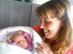 ANNA Šimandlová se narodila 25. dubna, vážila 3,43 kg a měřila 50 cm. S maminkou Lenkou a tatínkem Filipem bude bydlet v Mladé Boleslavi, kde už se na ni těší bráška Štěpánek.