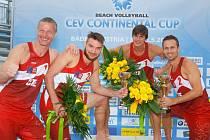 Český beachvolejbalový tým vybojoval v Badenu postup do finále