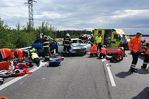 Vážná nehoda u Čisté 18. července 2020.