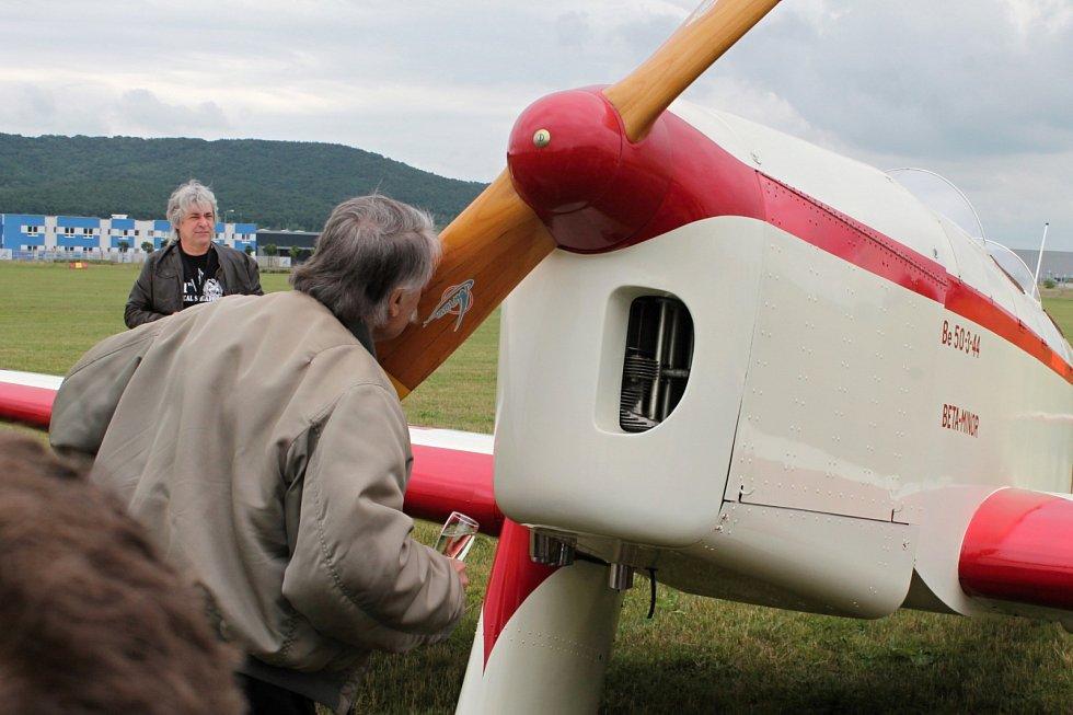 Křest nového přírůstku Leteckého muzea Metoděje Vlacha, letounu Be-50 Beta Minor.
