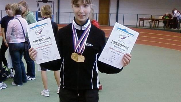 Barbora Zaskonovová byla hvězdou oblastních přeborů v atletice mladšího žactva.