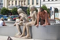 Staroměstské náměstí se mění v létě v koupaliště