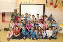 Žáci 1.třídy Masarykovy ZŠ a MŠ Brodce, třídní učitelka Zuzana Fenclová