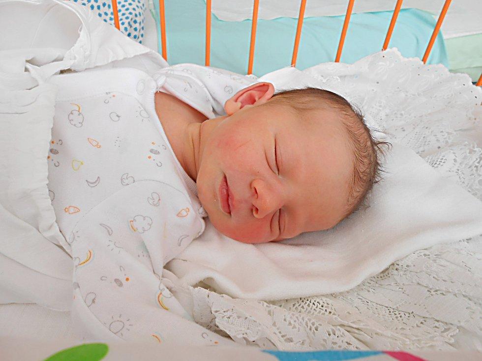 Amálie Ouředníková se narodila 30. října, vážila 3,32 kg a měřila 52 cm. S maminkou Petrou a tatínkem Martinem bude bydlet v Doksech.