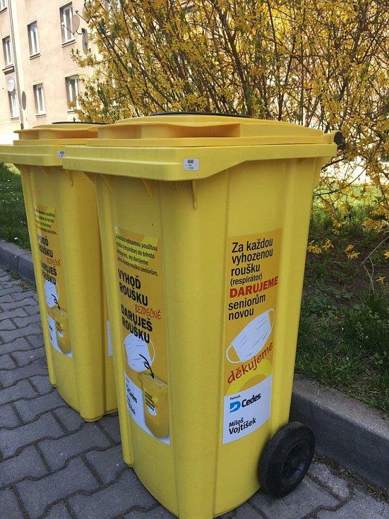 Žluté popelnice na roušky budou stát na několika místech Brandýsa nad Labem a Staré Boleslavi